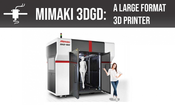 A new large format 3D printer is available in the market, Mimaki is the responsible for this one, 3DGD-1800 is the model.