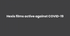 Hexis films active against COVID-19
