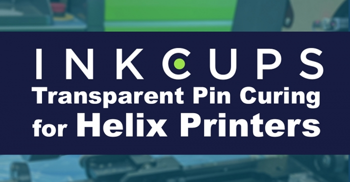 Inkcups Transparent Pin Curing for Helix Printers