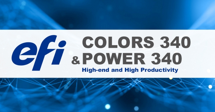 Efi COLORS 340 and Efi POWER 340 printers for the high-end and high productivity soft signage