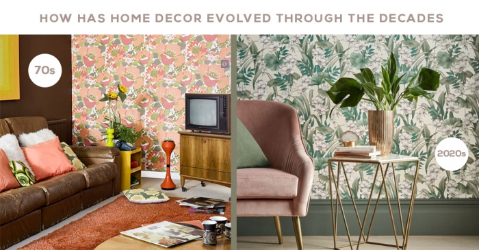 How has home decor evolved through the decades
