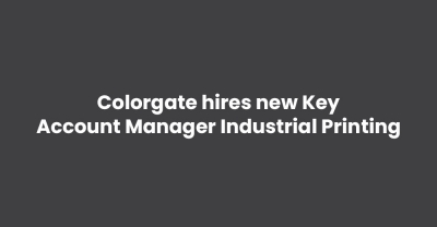 Colorgate hires new Key Account Manager Industrial Printing