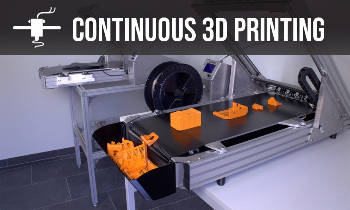 Continuous 3D printing tech